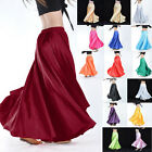 360 Full Circle Shining Satin Long Skirt Swing Belly Dance Costumes