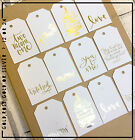 Wedding  Mr & Mrs Gold / Silver Rose wish tree labels | Love Gift tags 12 /24