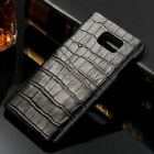 Genuine Real Cow Leather Crocodile Grain ID Card Cover Case For Samsung Note 5