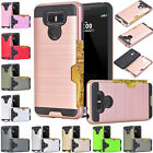 Slim Sleek Case With ID Credit Card Pocket Armor Hybrid Cover Defender For LG
