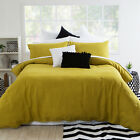 New MUSE Mustard Stone Washed Linen Quilt Cover Set