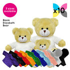 10 Blank Elizabeth Bears Soft Toys Plain T-Shirt Hoody Transfer Sublimation Bulk