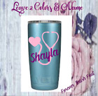 Personalized Monogram Nurse Vinyl Decal For  Tumbler Cups Stethoscope & Name