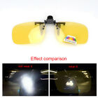 Anti-glare Clip On Sunglasses Night Driving Glass Spectacle Lens Fishing Golf