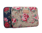 "Canvas Flower 10""12""13""14""15"" Laptop Sleeve Bag Pouch Notebook Case For Asus HP"