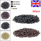 500 5mm Silicone Lined Micro Rings Beads For Human Hair Extensions UK Stock