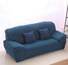 Blue Dots Spandex Stretch Fitted Sofa Cover oAUl Protector for 1 2 3 4 seater O