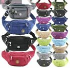 NEW LADIES CANVAS HOLIDAY TRAVEL JOGGING BUM BAG WAIST BAG FANNY PACK