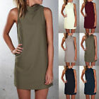 Summer Women Sleeveless Lace Bodycon Evening Party Cocktail Mini Dress Size 4-20