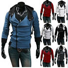 1Pcs 2017 Tops Casual Sweatshirt Zipper Hooded Mens Cotton Slim Fit Sweater