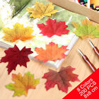 UK Fall Autumn Wedding Artificial Silk Leaves Maples Crafts Favor Party Fun DIY