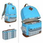 "Lady's Canvas DSLR Camera Bag Padding Case Travel Backpack For Canon 15"" Laptop"