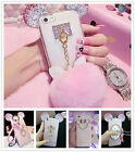 For iPhone 5/SE/6s/7 Plus 3D Bling Diamond Crystal Bumper TPU Girl's Case Cover