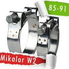 85-91mm| Mikalor W2 | Stainless | QTY 1-5-10 | Hose Clip | Exhaust Clamp |