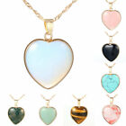 1 Piece Womens 18K Gold Filled Heart Love Chain Pendant Choker Necklace