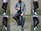 Young Fashion Skinny Men's Destroyed Rocker Biker UK Style Jeans Tube Trousers
