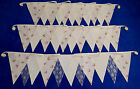 DOUBLE SIDED WEDDING BUNTING ivory cream pink fabric lace SHABBY VINTAGE CHIC