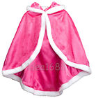 For  Princess Cosplay Party Fancy Dress Hooded Shoulder Cape Cloak Costume