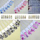 1 SHEET NAIL ART STICKERS STAMPING DIY 3D DECORATION 108PCS FLOWER DECALS CLASSY
