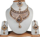 Indian Bollywood Jewelry Exquisite Gems Stone Princess Jewelry Necklaces Set
