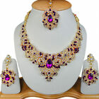 Indian Party Wear Jewellery Cubic Zirconia Fashionable Necklaces Tikka Sets