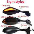 NEW Black Motorcycle LED Turn Signal Indicator Mirrors For Hyosung GT650R GT250R $28.99 USD
