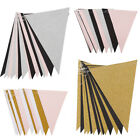 3M 15 Flags Glitter Bunting Pennant Paper Banner Wedding Party Hanging Decor