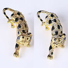 Fashion Unisex Crystal Rhinestone Leopard Party Badge Bouquet Brooch Pin Jewelry