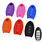 4 Button Silicone Remote Key Cover Fit For Nissan Altima Rogue Sentra Fob Case