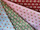 Pink blue green red floral 100% cotton fabric sold in metre and half metre