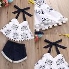 Toddler Infant Baby Girls Floral T-shirt Tops+Shorts Pants Summer Outfit Clothes