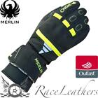 MERLIN LADIES TESS OUTLAST BLACK FLUO WATERPROOF MOTORCYCLE MOTORBIKE GLOVES
