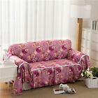 Floral Flannelette Slipcover Sofa Cover OusL Protector for 1 2 3 4 seater lmqd
