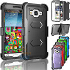 For Samsung Galaxy Amp Prime Clip Holster Case Cover W/Built-in Screen Protector