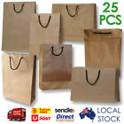 50 x Deluxe Brown Paper Carry Bags -with rope Handle / Shopping Bags / Gift Bags