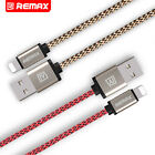 REMAX Nylon Heavy Duty 8Pin Lightning USB Cable Charger For iPhone 5/6 6 Plus/7