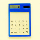 Solar Ultra Slim Touch Screen LCD 8 Digit Electronic Transparent Calculator