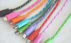 ROUND BRAIDED 3FT fabric charge cable FOR galaxy s2 s3 s4 s6 s7 + edge MICRO USB