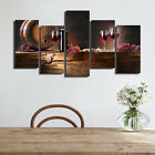 WINE GLASS CANVAS PAINTING ART WALL FRAMED PICTURE PRINT HOME DECOR POSTER BAR