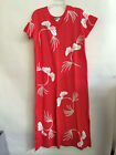 """M.Mac's """"Lyrical Leaves"""" U-Neck Ankle Length Dress in Coral w White- Assorted!"""