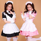 New Japanese Overall Cosplay Dress Sexy Maid Outfit Set Apron Halloween Costume