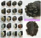 18 colors Short Curly Wavy claw clip ponytail hair pieces wig