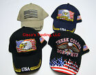 USA American Flag Embroidered Baseball Cap Spirit Heritage Eagle Patriot  Hat