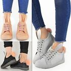 New Womens Ladies Bunny Trainers Sneakers Pom Pom Faux Fur Fluffy Shoes Size AUS