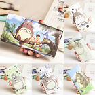 Womens Anime Totoro Bifold PU Wallet Long Purse Student Clip Card Holder Handbag