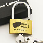 Personalised Lock Engraved Padlock Wedding Anniversary Love Valentines day Gift