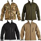 CLEARANCE!! MENS TACTICAL SOFT SHELL JACKET UNION JACK PATCHES M-2XL BLACK SAND