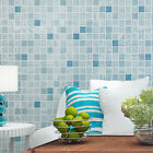 Modern Mosaic Flocking Wall Paper Living Room Non-woven Background Wallpaper 224