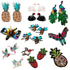 Sequin Patches Embroidery Clothes Fabric Applique Decor DIY Sew on Iron On Rose