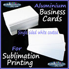 Blank METAL BUSINESS CARDS for DYE SUBLIMATION heat press aluminium card blanks